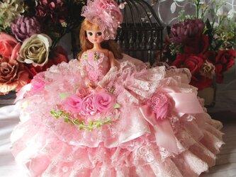 a様オーダー品 夢見るシンデレラ 妖精が舞うロマンティックミルフィーユドレス 4Pの画像