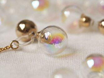 2way|大人Rainbow - ガラスドームのノンホールピアス|P67の画像