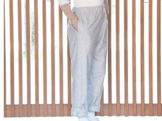 Organic Cotton ヤク混ネル生地ギャザーパンツ【両脇ポケット付き】の画像