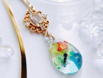 キラキラ金魚のブックマーカー Crystal dropの画像