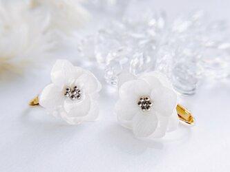 innocent  紫陽花のイヤリング 雪の画像