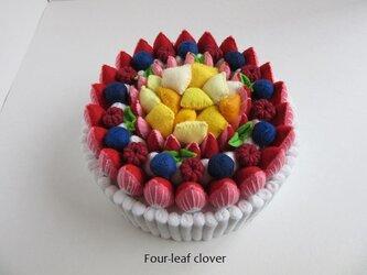《直径14㎝》ブランチケーキ(ホワイト×フルーツMIX)の画像