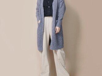 【新作】さっと羽織れる柔らかなカーディガン(グレーブラウン)21030の画像