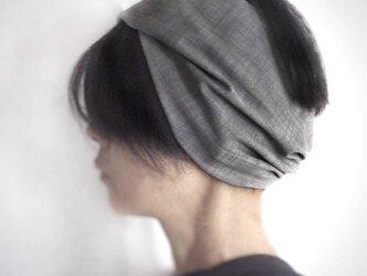 ターバンなヘアバンド グレー 送料無料の画像