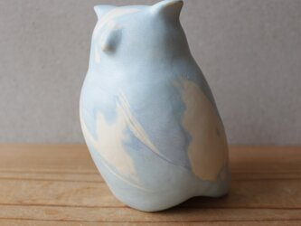 黄金律 golden rule シマフクロウ Blakiston's owl 絶滅危惧種 陶オブジェの画像