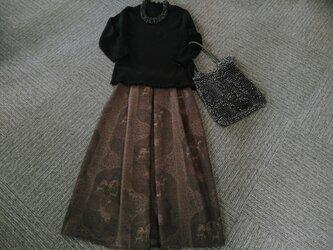 ★着丈80㎝まで★イタリア製の貴族的なウール★ギャザースカート★裏地付★受注製作★の画像