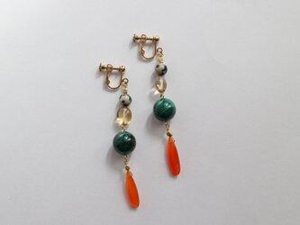 Colorful stone earring(pierce)の画像
