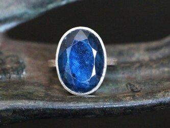 古代スタイル*天然カイヤナイト 指輪*7号 SVの画像