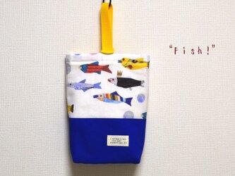 """27×16×6 """"Fish!""""上履き入れ*オリエンタルブルーの画像"""