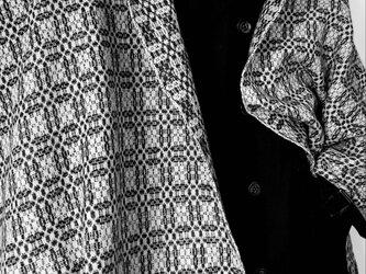 *手織り*ラムウールストール(チャコールグレー)の画像