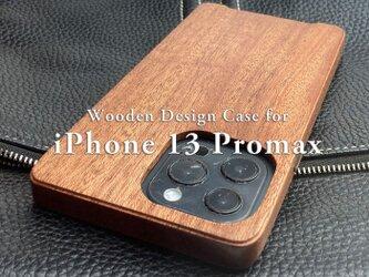 【受注生産】実績と安心サポート iPhone 13 promax  専用特注木製ケースの画像
