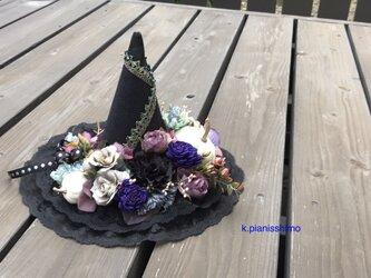 大人のためのハロウィン 魔女の帽子(ミントグリーン)の画像