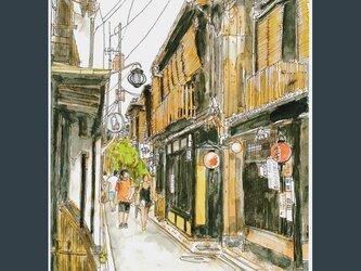 A4サイズ「京都 夏の先斗町にて」の画像