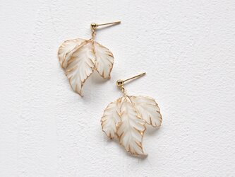 Fagus drop earrings/pierces [ Short stem ]の画像