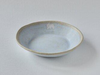楕円深皿 [ シロクマ こぐま ]の画像