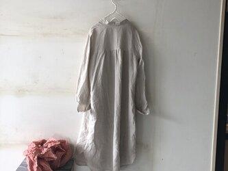 [秋支度]秋のお出掛けSET ロングシャツ&ストール リネン100%の画像