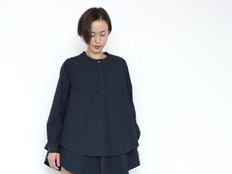 Kasane blouse / dark navyの画像