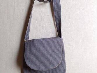 手織り布の肩掛けバッグ~草木染・綿~の画像