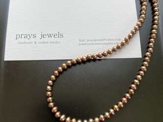 14kgf Pearls Necklaces:Light Bronzeの画像