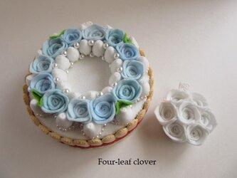 《直径12.5㎝》Something blue wreath paleの画像