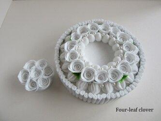《直径15㎝》ブランチケーキ(white wreath&bouquet)の画像