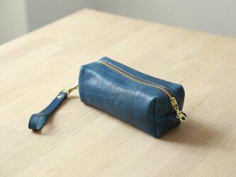 【柔らかいヌメ革】本革手作りペンケース ファスナー筆箱 プレゼント 化粧ポーチの画像