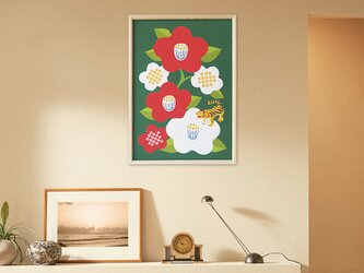 【椿と虎張子】A3sizeポスターの画像