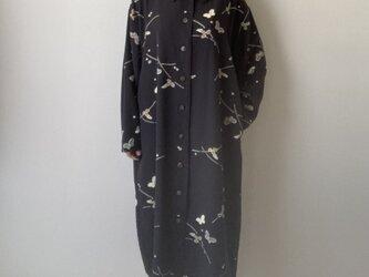 着物リメイクワンピース 蝶と萩の画像