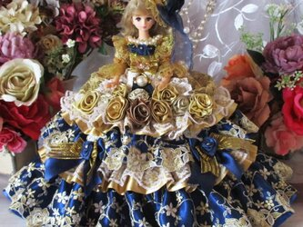 美しきルノワールのアンティークゴールド 社交界の華バブリングドールドレスの画像