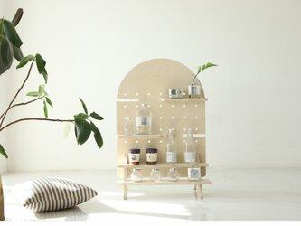 受注生産 職人手作り 飾り棚 什器 洗面台 木製雑貨 ギフト 家具 天然木 木目 おうち時間 木工 エコ LR2018の画像
