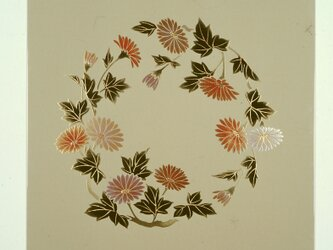 漆の天井絵 山鳩 菊の画像