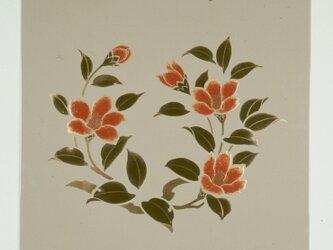 漆の天井絵 山鳩 椿の画像