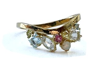 tiara ring [K18YG  V-shaped]の画像