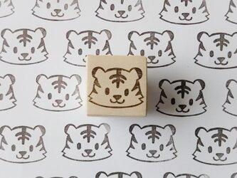 2022年干支 可愛いトラ 消しゴムはんこ(年賀状・寅・寅年・2022年・ポチ袋)の画像