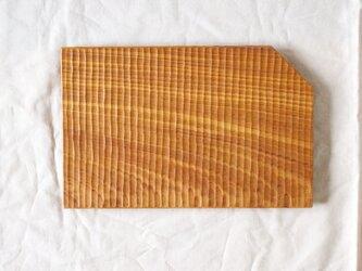 ケヤキの平皿の画像