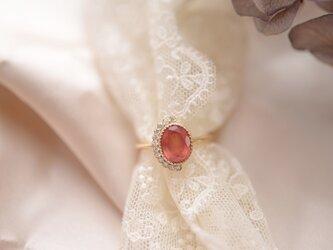 ローズ|ロードクロサイトダイヤモンドリングの画像