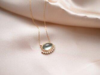 クロエ プレナイトダイヤモンドネックレスの画像