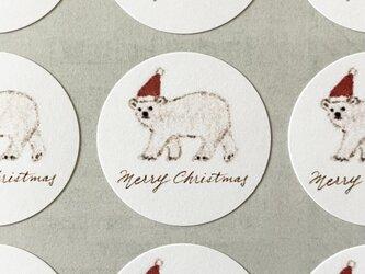 しろくまのメリークリスマスシール サンキューシール 48枚の画像
