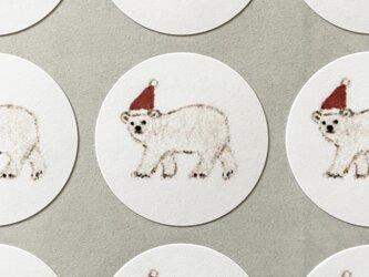 しろくまのクリスマスシール サンキューシール 48枚の画像