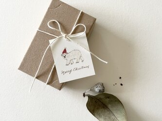 小さなしろくまサンタのクリスマスカード タグ 40枚の画像