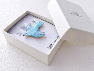稔りを運ぶ小鳥(ブルー)の画像