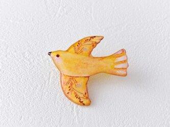 実りを運ぶ小鳥(イエロー)の画像