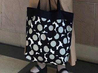 コンパクト おかいのもかばんブラックフラワー受注製作の画像