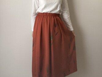 着物リメイクスカート 麦の画像