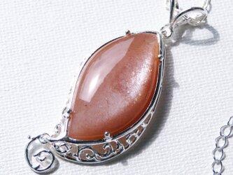 ピーチムーンストーン ネックレス * Moonstone Necklaceの画像