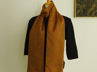 黄八丈を楽しむロングスカーフの画像