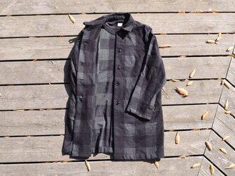 SALE 50%OFF otokomae coat~check コットンコートの画像