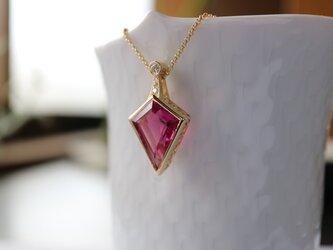 特大サイズのピンクトルマリン(ルベライト)ネックレス。の画像