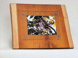 おしゃれな木のフォトフレーム No.17 朱里桜の天然木(L-35)の画像