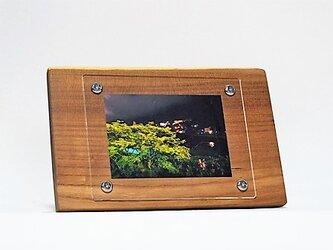 おしゃれな木のフォトフレーム No.14 エンジュの天然木(L-32)の画像